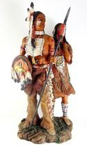 Native American Couple Indian Figurine Mini Figure Sculpture Statue Deco... - $55.96