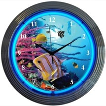 "Aquarium Art Light Neon Clock 15""x15"" - $59.00"