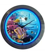 """Aquarium Art Light Neon Clock 15""""x15"""" - $59.00"""