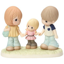 Family Is a Gift That Lasts Forever Precious Moments Figurine Mom Dad Gi... - $80.18