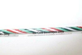 "Starbucks 2019 Green Red White Striped Reusable Straw Venti Grande 9.5"" - $7.87"