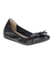Hush Puppies Women's Black Heather Tassel Leather Ballet Flats Size 8.5W... - $54.99