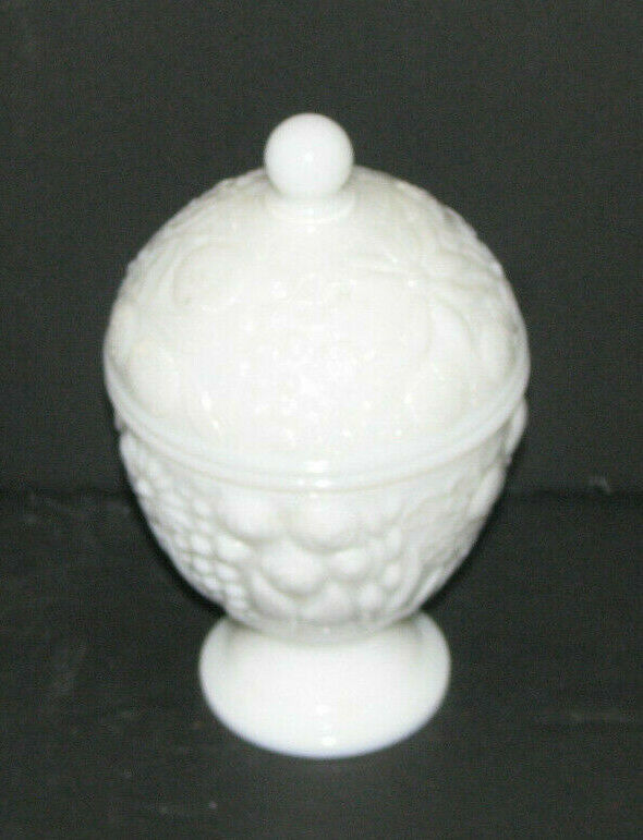 Vintage Avon Milk Glass Candy Dish With Lid