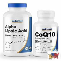 Nutricost Alpha Lipoic Acid 600mg, 240 Caps & Nutricost CoQ10 100mg, 120... - $52.44