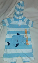 Carter's Baby Body Suit With Hood & Whale Size 12 Months NWT - $12.82