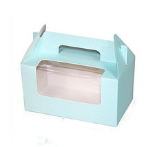Set of 12 Portable Cupcake Boxes Containers with PVC Window/Cardboard In... - $20.89