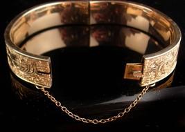 1900s Victorian bracelet - antique gold filled bangle - Antique bracelet 12kt  image 4