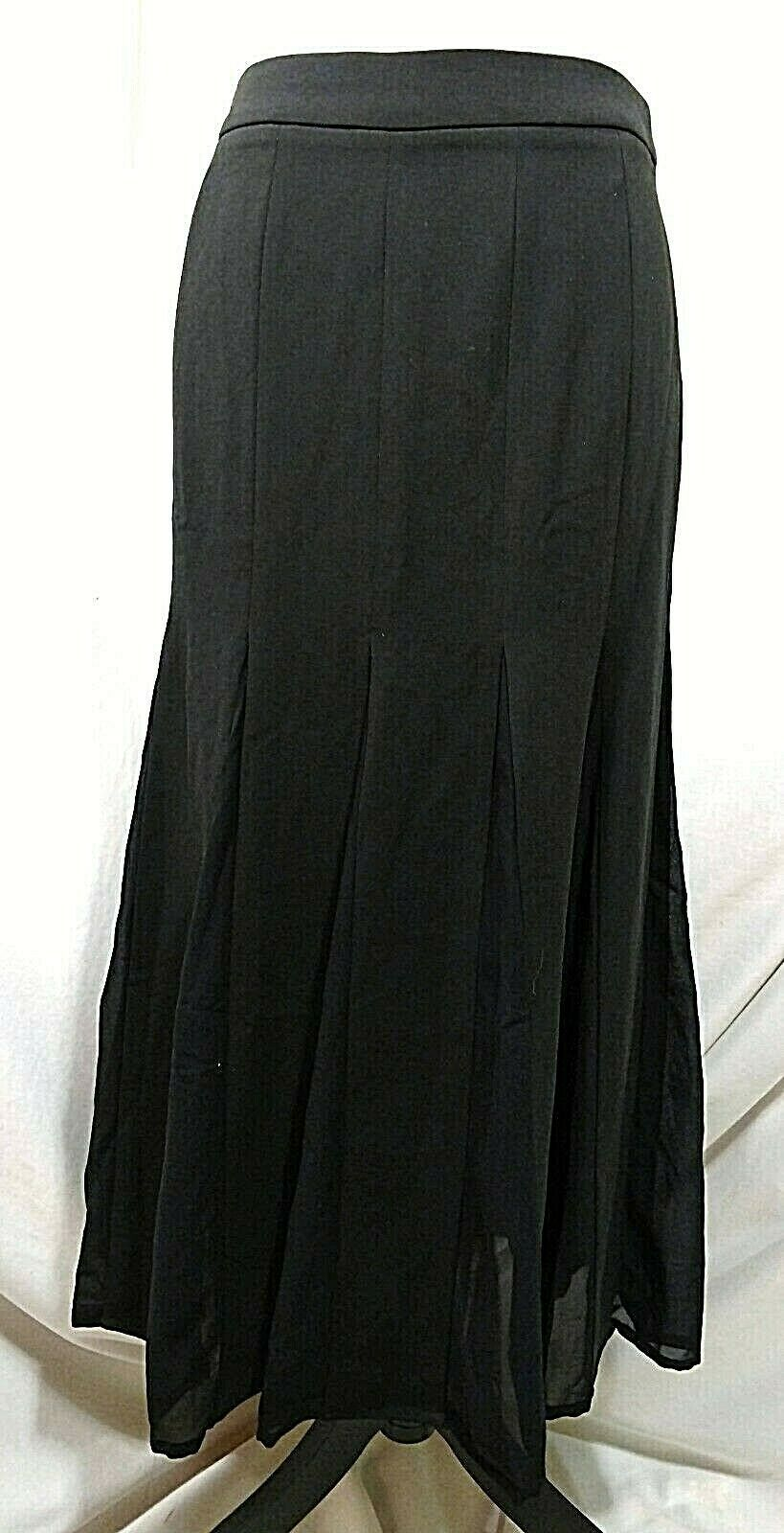 "STYLEWE Black Skirt Medium ""XL"" Flowy Fit & Flare SHANGMAN 6 8 Maxi Long Modest image 1"