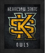 """Kennesaw State Owls """"Retro College Logo Map"""" 13x16 Framed Print  - $39.95"""