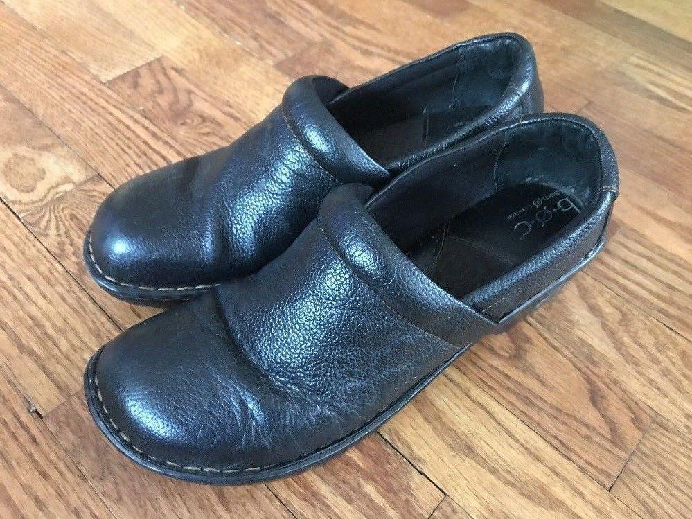 Born BOC Black Slip-on Mules Clogs Shoes Women's Size 11 M
