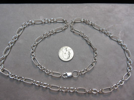 """Sterling Silver Textured Link Necklace 32"""" Long - $242.55"""