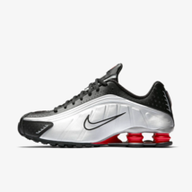 Nike Shox R4 Mens Trainers Black / Silver/ Red Shoes BV1111-008 - $182.36