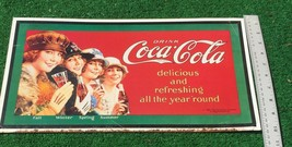Drink Coca-Cola Fall - Winter - Spring - Summer 1993 Collect Metal Sign - $19.08