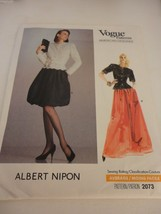 Vintage Albert Nipon Vogue Size 10 2073 dress uncut sewing pattern - $21.77