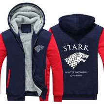 Game Of Thrones Hoodie Fleece Thick Warm Sweatshirt Coat - $55.99