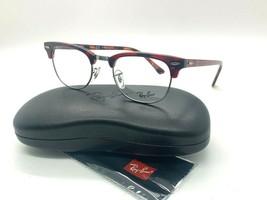 NEW Ray Ban Eyeglass Frames RX 5154 5911 Red Havana 49-21-140MM /CASE - $87.58
