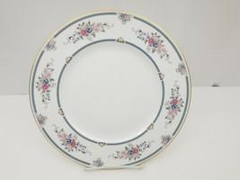 Wedgewood Bone China Charlotte Dinner Plate White Floral Gold Trim Engla... - $14.50