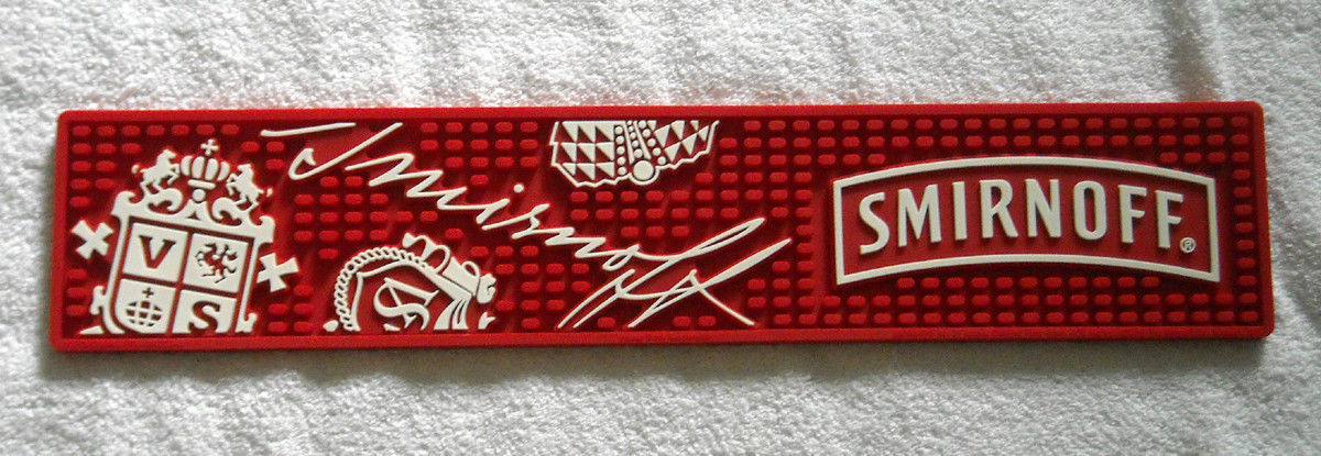 Smirnoff Vodka Rubber Bar Runner  *BRAND NEW*