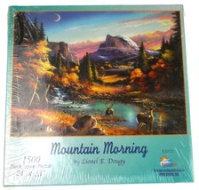 Suns Out Mountain Morning Jigsaw Puzzle 1500 Piece 24x33 Made USA Lionel... - $22.75