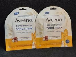 (2) Aveeno HAND mask repairing Moisture Gloves CICA Prebiotic Oat & Shea... - $10.58
