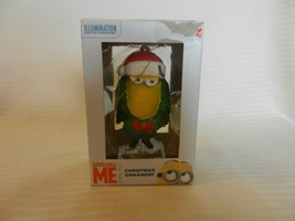 Despicable Me Minion Christmas Ornament With Wreath Around Neck by Kurt Adler - $29.70