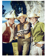 BONANZA - LANDON, GREENE & BLOCKER Signed Autographed Cast Photo w/COA 1319 - $350.00