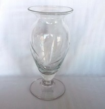 "Lenox Floral Spirit Etched Glass Vase 9 1/4"" - $18.32"