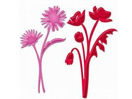 Spellbinders Die D-Lites Asters and Poppies Die Set #S3-206