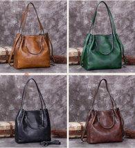 Sale, Full Grain Leather Handbag, Women Designer Shoulder Bag image 3