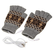 5V 1.5m USB Warmer Gloves Removable Heated Half Finger Gloves - €9,05 EUR
