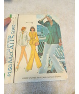 Vintage McCalls 5052 Misses Size 12 Unlined Jacket And Pants Or Shorts - $6.99
