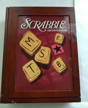 Scrabble Vintage Game Collection Wooden Box Preowned - $15.83