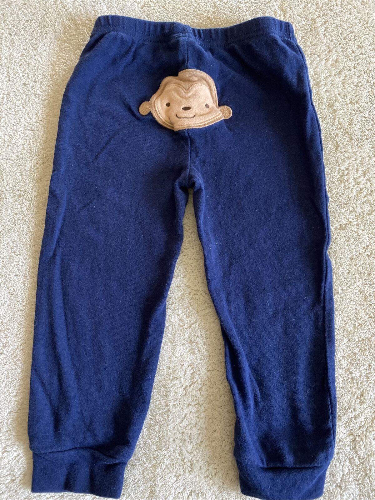 Child Of Mine Boys Navy Blue Brown Monkey Bottom Pants 24 Months 2T - $2.50