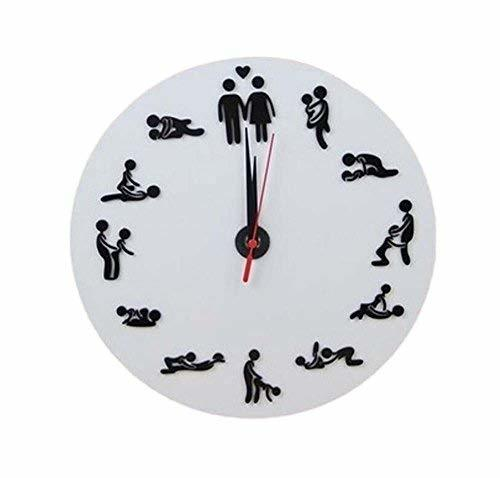 Panda Superstore 10-inch Wacky Creative Decorative Wall Clock-The Clock Of Sex