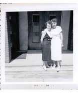 Two Girl Friends Dressed Up And Waiting To Go Photo Snapshot 1959 - $4.99