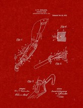 Artificial Hand Patent Print - Burgundy Red - $7.95+