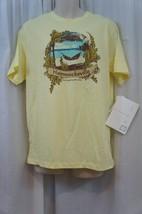 Cubavera Men's Casual Shirt Sz L Wax Yellow Estacional Cotton Graphic Tee - $12.09