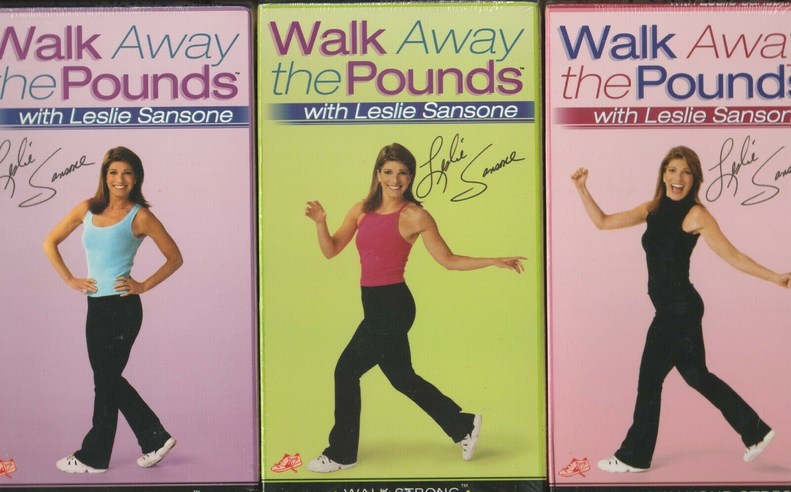 Primary image for Leslie Sansone Walk Away the Pounds ~ Lot of 3 VHS Tape NIP
