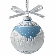 Wedgwood  CAROLERS BLUE  JASPER WARE ORNAMENT BALL NEW IN BOX - $46.74