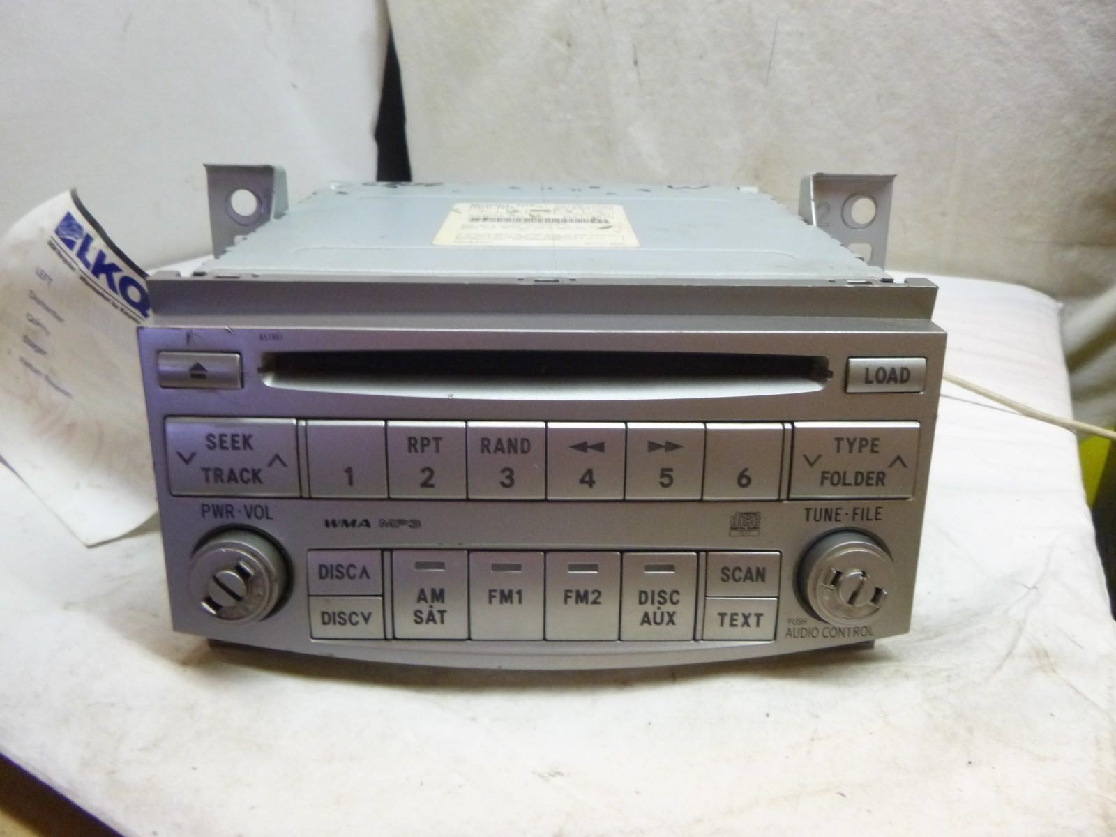 08 09 10 Toyota Avalon Radio 6 Disc Cd MP3 Player A51851 86120-07060 CLA09