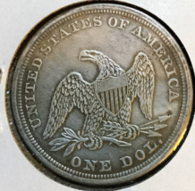 1851 dollar Liberty Seated 90 percent Pure Silver, Excellent, in stock .... - $53.95