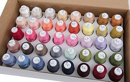 40 Thread Set for Brother Embroidery Machine Cr... - $39.49