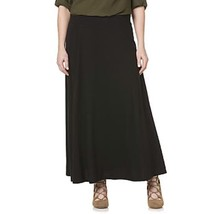 Maxi Skirt Coverup Side Slit Floor Length Chiffon Black by Fourteenth Pl... - $15.88