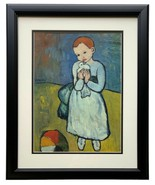 Child Holding A Dove by Pablo Picasso Framed 14x17 High Quality Photo Print - $152.45