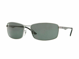 Ray Ban Sunglasses RB3498 004/71 64 Gunmetal Frame Green Lens  - $183.00