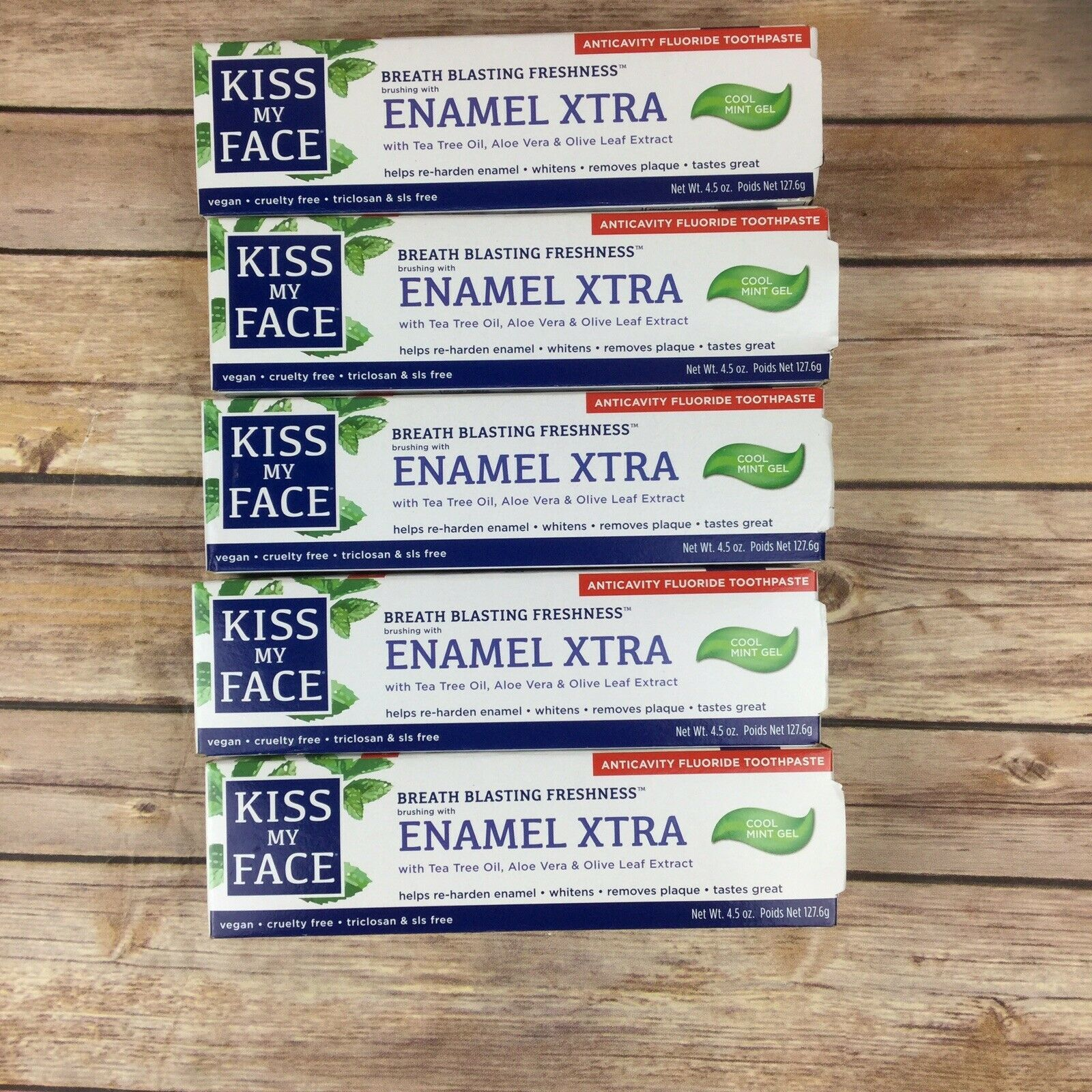 Primary image for Kiss My Face Toothpaste Enamel Xtra (5 Pack)