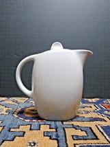 Vintage Hutschenreuther White Lidded MCM Teapot Bavaria Germany 81/75 - $27.37