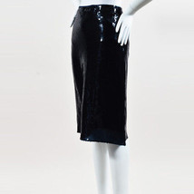 Nina Ricci NWT  Blue Sequin Embellished Pencil Skirt SZ 36 - $630.00