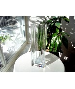 "Cris D'Arques Durand Crystal Beaubourg Pattern 12"" Flower Vase - $24.75"