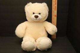 Build A Bear Workshop 2014 BABW White Ivory Teddy Bear Big Smile Brown N... - $8.86